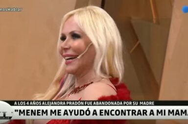 Alejandra Pradón habló de su romance con Carlos Menem