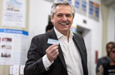 Votó Alberto Fernández