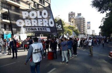 Reclamo contra el hambre en el Centro Porteño