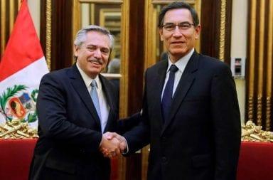 Alberto Fernández se reunió con el presidente de Perú, Martín Vizcarra