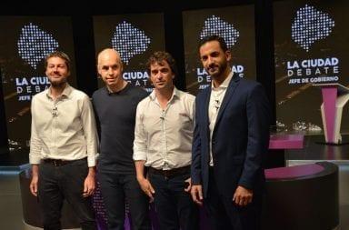 Los candidatos a Jefe de Gobierno en la Ciudad de Buenos Aires debatieron en vivo