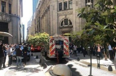 Se incendió la Casa Central del Banco Nación