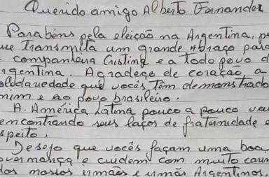 Lula felicitó a Alberto Fernández desde la cárcel con una emotiva carta