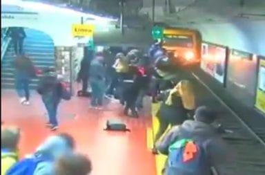 Desmayo en el subte: una pasajera fue golpeada y cayó a las vías cuando el tren ingresaba a la estación