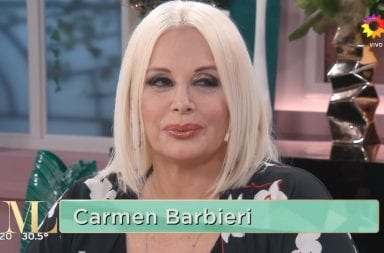 Carmen Barbieri con Mirtha: