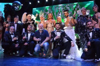 Mar del Plata: Flor de la V y su productor brindaron por el éxito