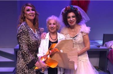 Estela de Carlotto vio la obra de Moria Casán y Nacha Guevara