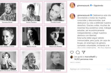 Así festejaron las famosas el Día de La Mujer en redes