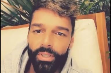 Ricky Martin se suma a la campaña #YoMeQuedoEnCasa por el Coronavirus