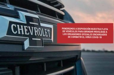 GM Argentina también puso a disposición su flota para combatir al coronavirus