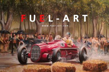Fuel-Art: El grupo dedicado a inmortalizar la historia del automovilismo en sus obras de arte