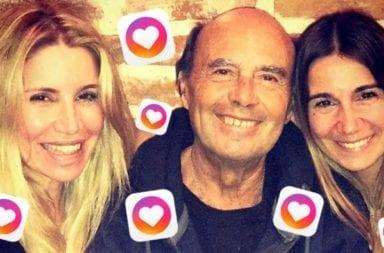 Flor Peña y padre