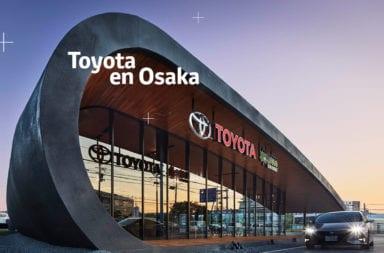 El alucinante concesionario, con pista incluida, que tiene Toyota en Osaka