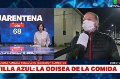"""Sergio Berni a Cristina Pérez: """"Usted está muy calentita en el estudio, y nosotros trabajando con frío y el virus circulando"""""""