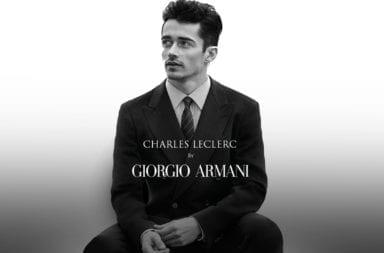 Giorgio Armani nombró a Charles Leclerc como nuevo embajador de la marca