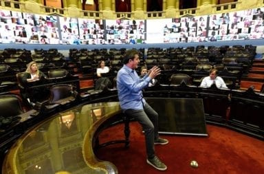 """Con un """"videowall"""", así será la primera sesión a distancia en la Cámara de Diputados de la Nación"""