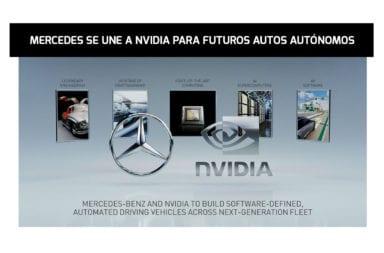 Mercedes se une a Nvidia para futuros autos autónomos