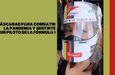 Máscaras para combatir la pandemia y sentirte un piloto de la Fórmula 1
