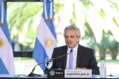 Alberto Fernández se refirió a la caída del PBI: