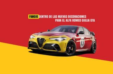 Fangio dentro de las nuevas decoraciones para el Alfa Romeo Giulia GTA