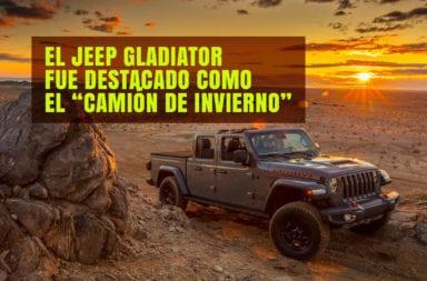 """El Jeep Gladiator fue destacado como el """"Camión de Invierno"""""""