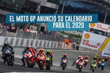 El Moto GP anunció su calendario para el 2020
