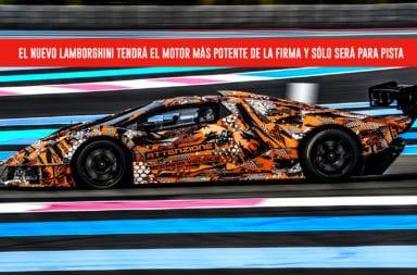 El nuevo Lamborghini tendrá el motor más potente de la firma y sólo será para pista