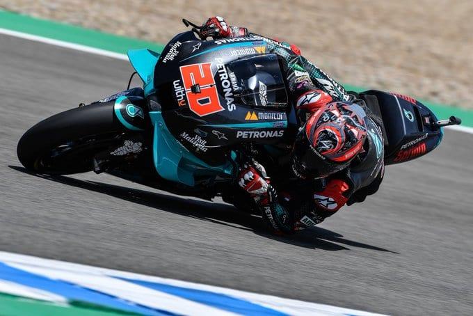 Quartararo se lució y se quedó con la pole del Moto GP en Jerez