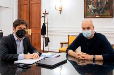 """Larreta y Kicillof acordaron """"seguir monitoreando"""" para definir si flexibilizan la cuarentena en el AMBA"""