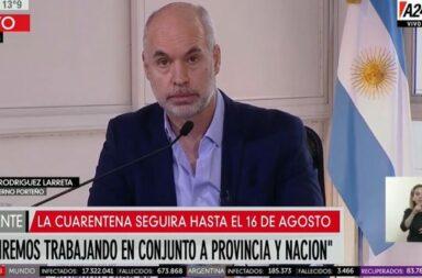 """Horacio Rodríguez Larreta: """"El virus circula en todos los barrios de la Ciudad"""""""