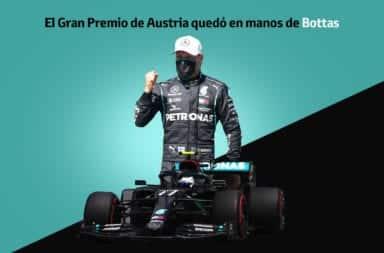 El Gran Premio de Austria quedó en manos de Bottas