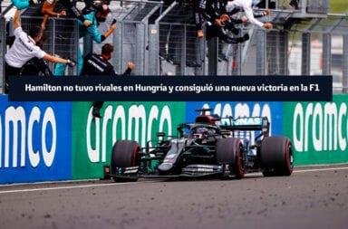 Hamilton no tuvo rivales en Hungría y consiguió una nueva victoria en la F1
