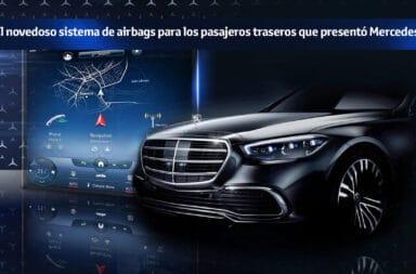 El novedoso sistema de airbags para los pasajeros traseros que presentó Mercedes