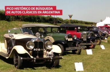Pico histórico de búsqueda de autos clásicos en Argentina