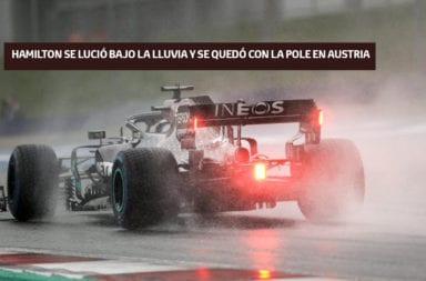 Hamilton se lució bajo la lluvia y se quedó con la pole en Austria