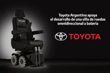 Toyota Argentina decidió apoyar el desarrollo de una silla de ruedas a batería