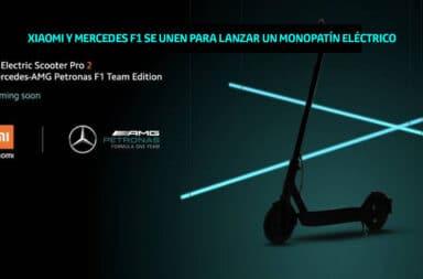 Xiaomi y Mercedes F1 se unen para lanzar un monopatín eléctrico
