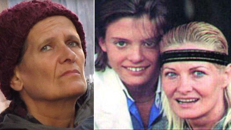 Honorina Montes izquierda y a la derecha Marcela Basteri