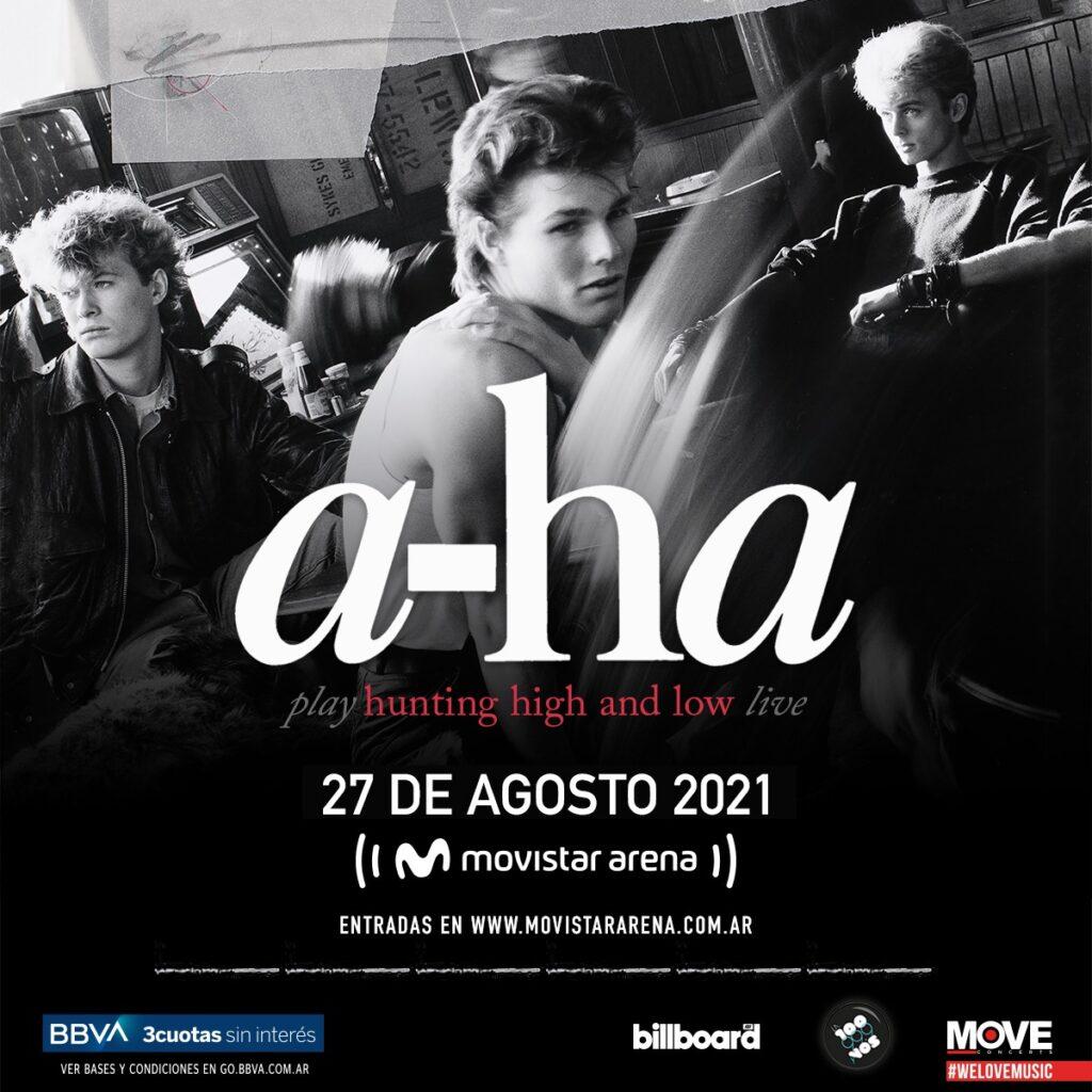 El show de A-Ha en Argentina se reprograma para el 27 de Agosto 2021
