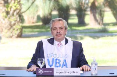 """Alberto Fernández, en el aniversario de la UBA: """"Estamos orgullosos de haber caído en la educación pública"""""""
