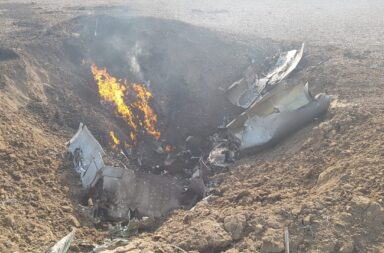 Se estrelló un avión de la Fuerza Aérea Argentina en Córdoba