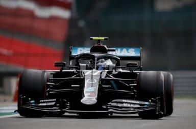 Bottas se lució y se quedó con la pole en los festejos de los 70 años de la F1