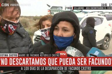 """Habló la mamá de Facundo Castro sobre el cuerpo encontrado: """"Hay muchas posibilidades de que sea él, mi instinto de mamá me lo dice"""""""