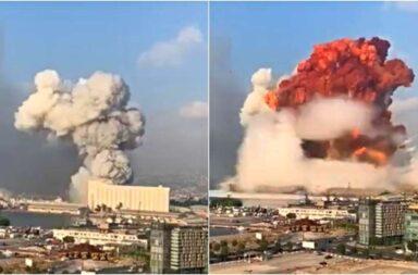 Una tremenda explosión sacudió a Beirut