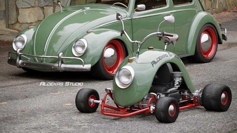 El increíble karting inspirado en el Volkswagen Beetle