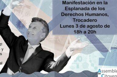 Argentinos se manifestarán en contra de Macri en París