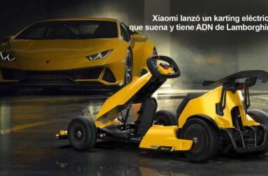 Xiaomi lanzó un karting eléctrico que suena y tiene ADN de Lamborghini