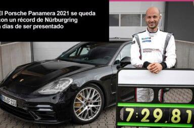 El Porsche Panamera 2021 se queda con un récord de Nürburgring a días de ser presentado