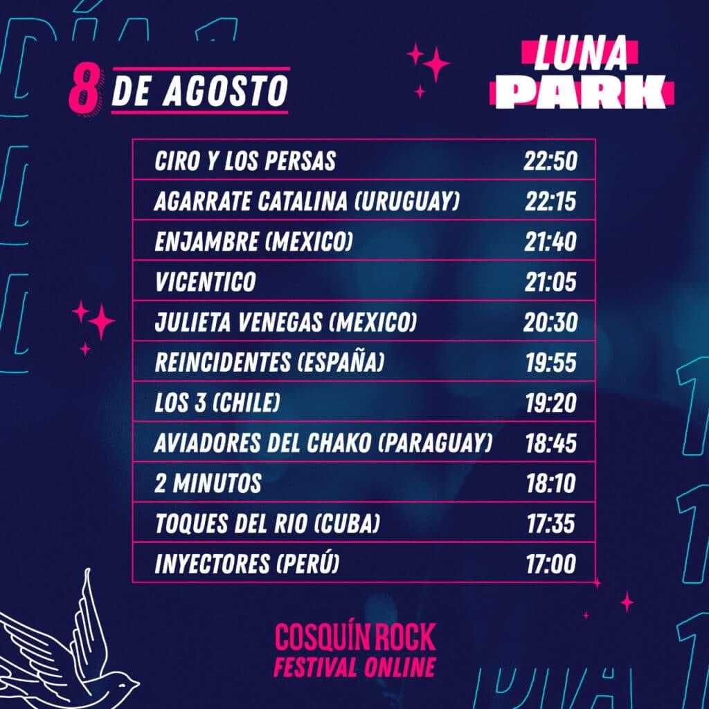 Cosquín Rock online: grilla con horarios y escenarios