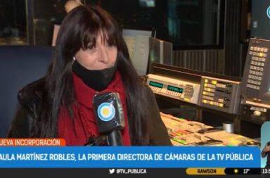 Paula Martínez Robles es la primera directora de cámaras de Tv Pública